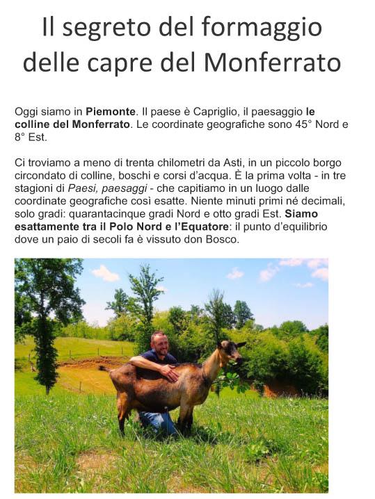 Il segreto del formaggio delle capre del Monferrato